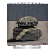 Rock Stack II Shower Curtain