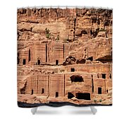 Rock Village In Petra Shower Curtain