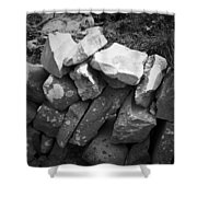 Rock Wall Doolin Ireland Shower Curtain
