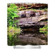 Rock Wall Reflections Shower Curtain