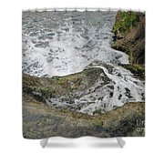 Rock Water Shower Curtain