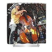 Rockabilly Bass Shower Curtain