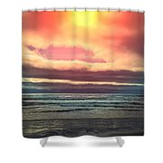 Rockaway Beach Colors Shower Curtain