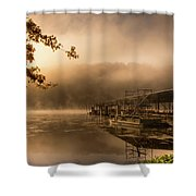 Rockaway Beach Dock 2 Shower Curtain
