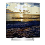 Rockaway Sunset #3 Enhanced #2 Shower Curtain
