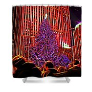 Rockefeller Center Christmas Tree Shower Curtain