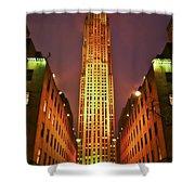 Rockefeller Center Shower Curtain by Evelina Kremsdorf