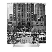 Rockefeller Center Plaza Shower Curtain