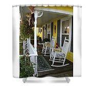 Rockers On The Porch Shower Curtain