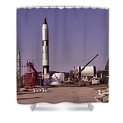 Rocket Garden Shower Curtain