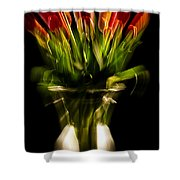 Rocket Propelled Tulips Shower Curtain