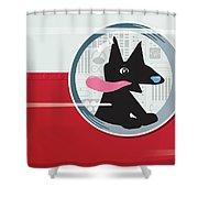 Rocket Dog Shower Curtain