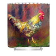 Rockin' Rooster Shower Curtain