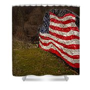 Rockin' The Flag Shower Curtain