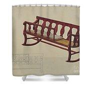 Rocking Settee Cradle Shower Curtain