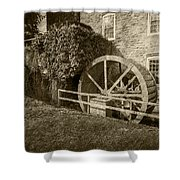 Rockland Grist Mill - Sepia Shower Curtain