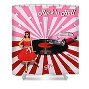 Rock'n Roll The Sweet Fifties Shower Curtain