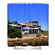 Rockport Buildings Shower Curtain