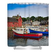 Rockport Harbor 2 Shower Curtain