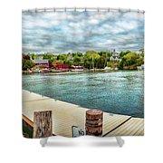 Rockport Inner Harbor Shower Curtain