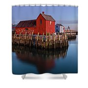 Rockport Ma Fishing Shack - #1 Shower Curtain