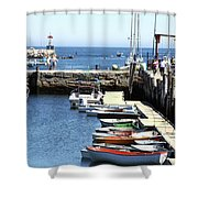 Rockport Ma Inner Harbor Shower Curtain