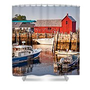 Rockport Motif Shower Curtain