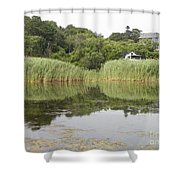 Rockport Reeds And Reflections Shower Curtain