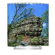 Rocks Along The Roadway Shower Curtain