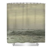 Rocks And Breaking Waves Shower Curtain
