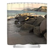 Rocks And Hills Shower Curtain