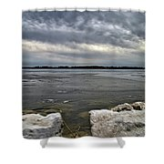 Rocks And Ice 2  Shower Curtain