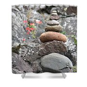 Rocks And Roses Shower Curtain