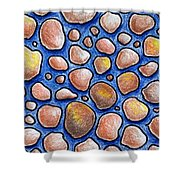 Rocks And Water Abstract Shower Curtain