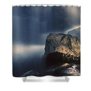 Rocks And Waterfalls Shower Curtain