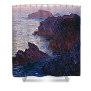 Rocks At Bell Ile Shower Curtain