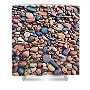 Rocks At Little Girls Point Shower Curtain