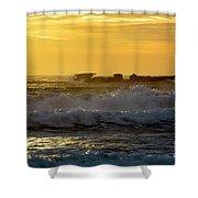 Rocks At Palm Beach At Sunrise Shower Curtain