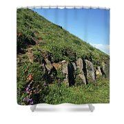 Rocks, Flowers, And Hillside Shower Curtain