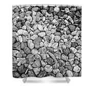 Rocks From Beaches In Black And White Shower Curtain