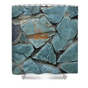 Rocks In A Wall Shower Curtain