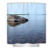 Rocks Of Lake Superior 10 Shower Curtain