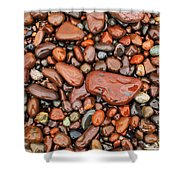 Rocks Of Lake Superior 13 Shower Curtain