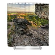 Rocks Of Sharon Overlook Shower Curtain