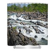 Rocks Of The Potomac Shower Curtain