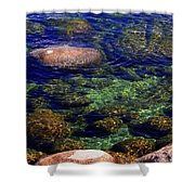 Rocks Ripples And Reflections Shower Curtain