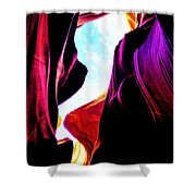 Rocks, Sunlight And Magical Colors Shower Curtain