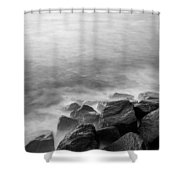 Rocks To The Ocean Shower Curtain
