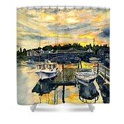 Rocktide Sunset Shower Curtain