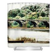 Rockville Bridge On The Susquehanna River Shower Curtain